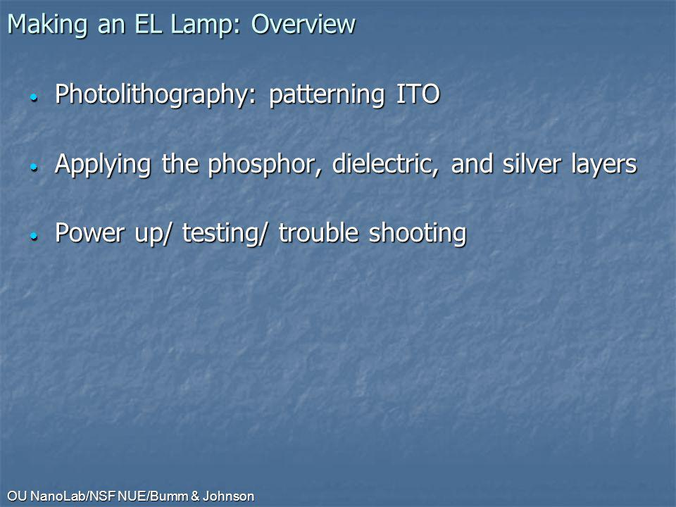 Making an EL Lamp: Overview