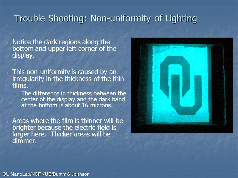Trouble Shooting: Non-uniformity of Lighting