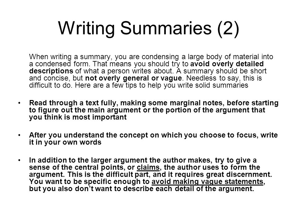 How Does One Write a Chapter Summary?
