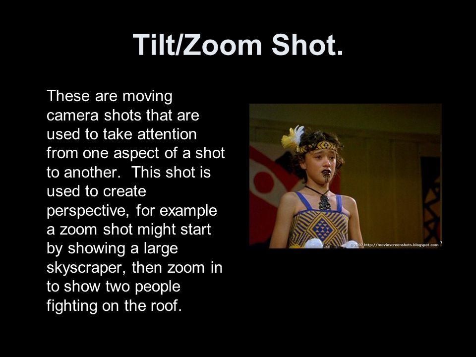 Tilt/Zoom Shot.