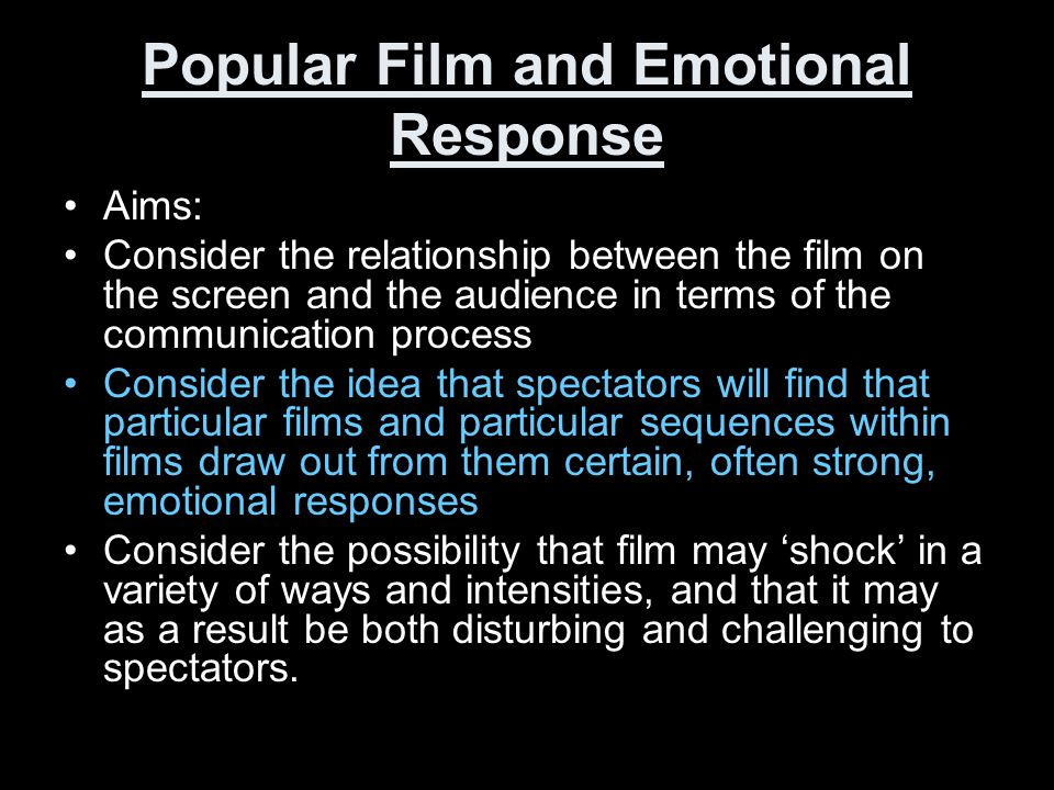 Popular Film and Emotional Response