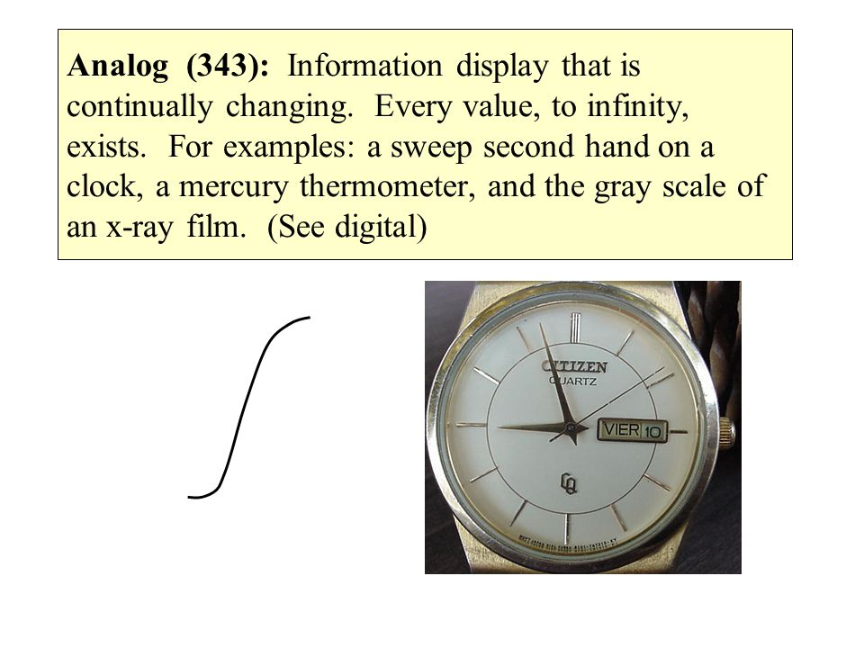 Analog (343): Information display that is continually changing