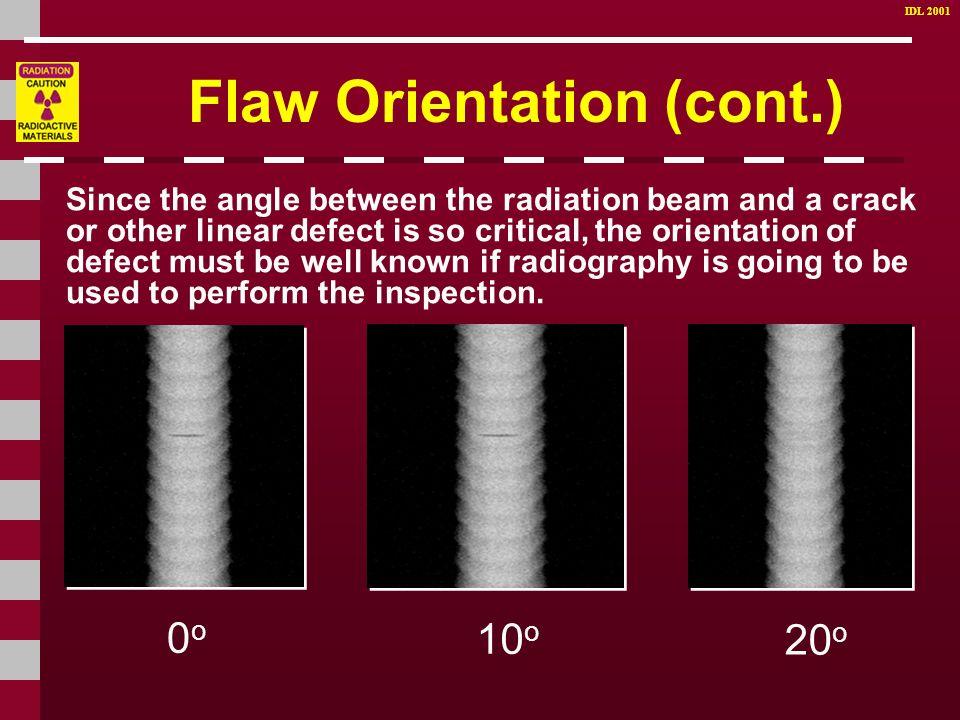 Flaw Orientation (cont.)