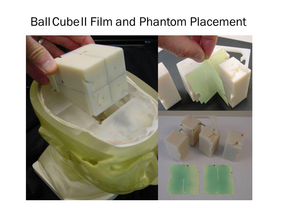 Ball Cube II Film and Phantom Placement