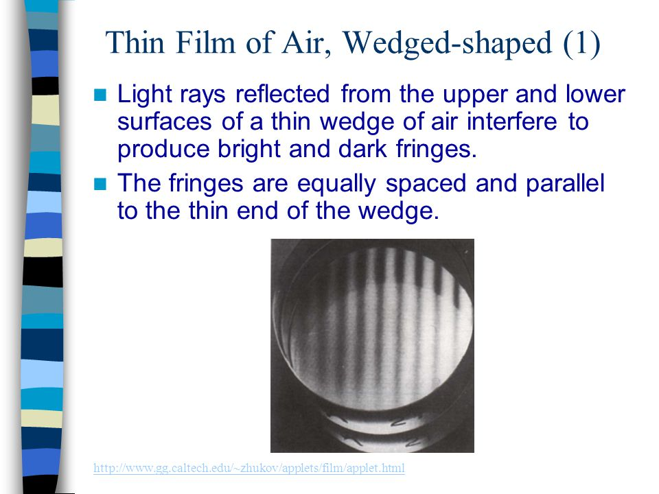 Thin Film of Air, Wedged-shaped (1)