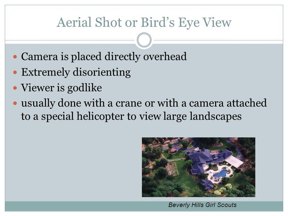 Aerial Shot or Bird's Eye View