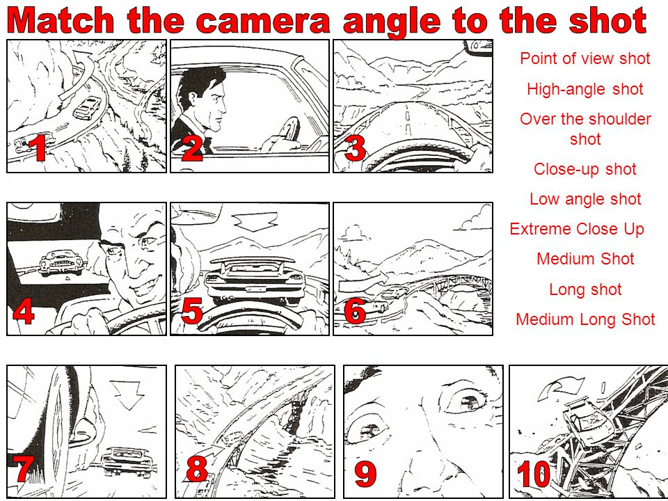 Match the camera angle to the shot
