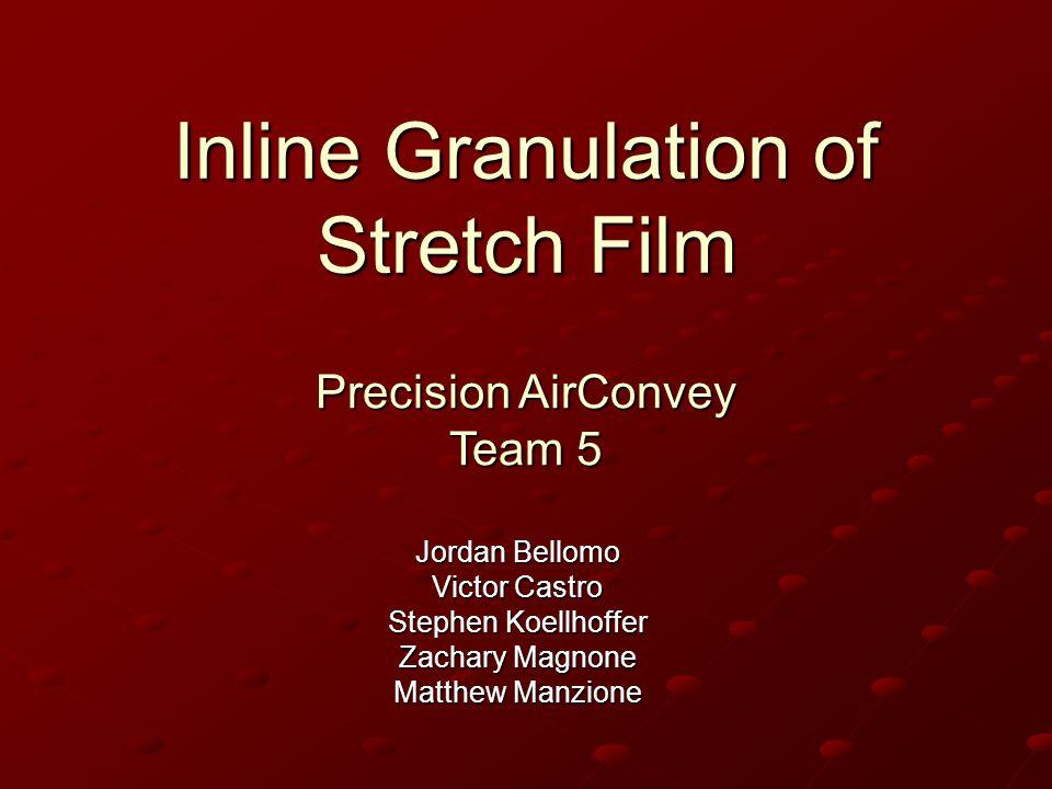 Inline Granulation of Stretch Film