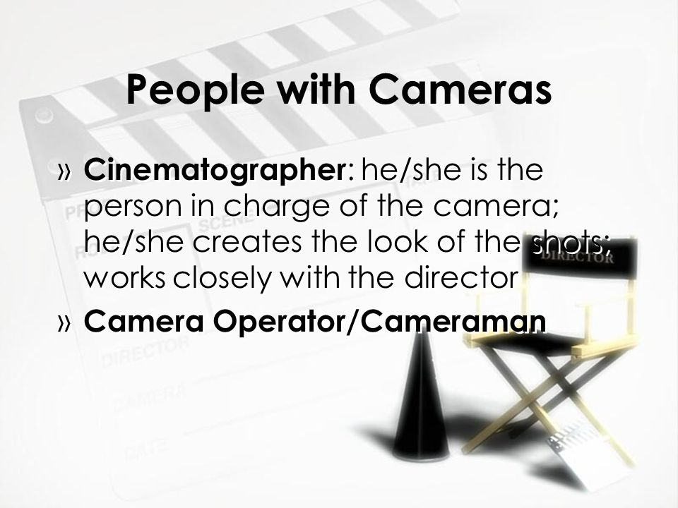 People with Cameras