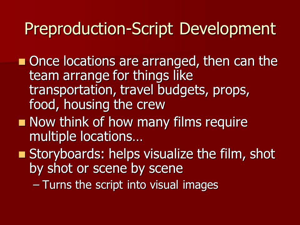 Preproduction-Script Development