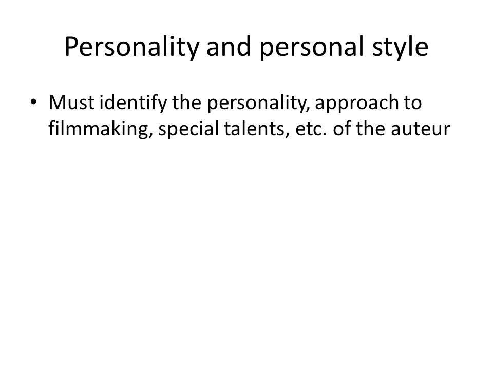 Personality and personal style