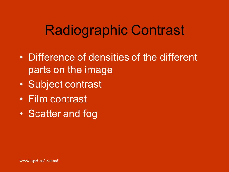 Radiographic Contrast