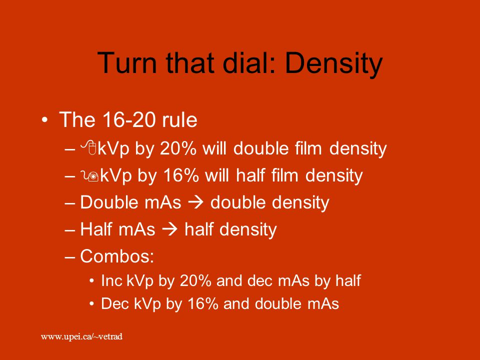 Turn that dial: Density