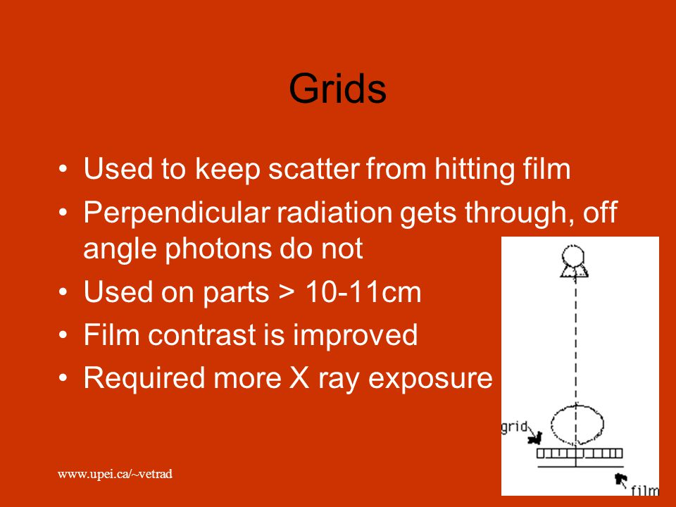 Grids Used to keep scatter from hitting film