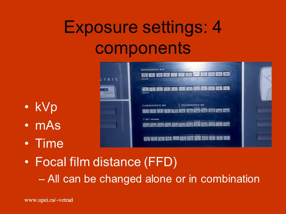 Exposure settings: 4 components