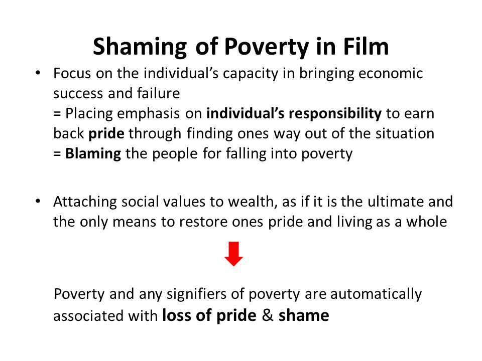 Shaming of Poverty in Film