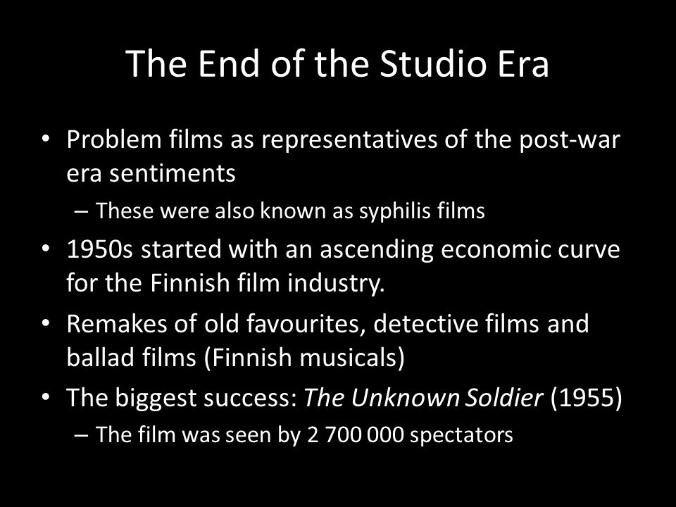 The End of the Studio Era