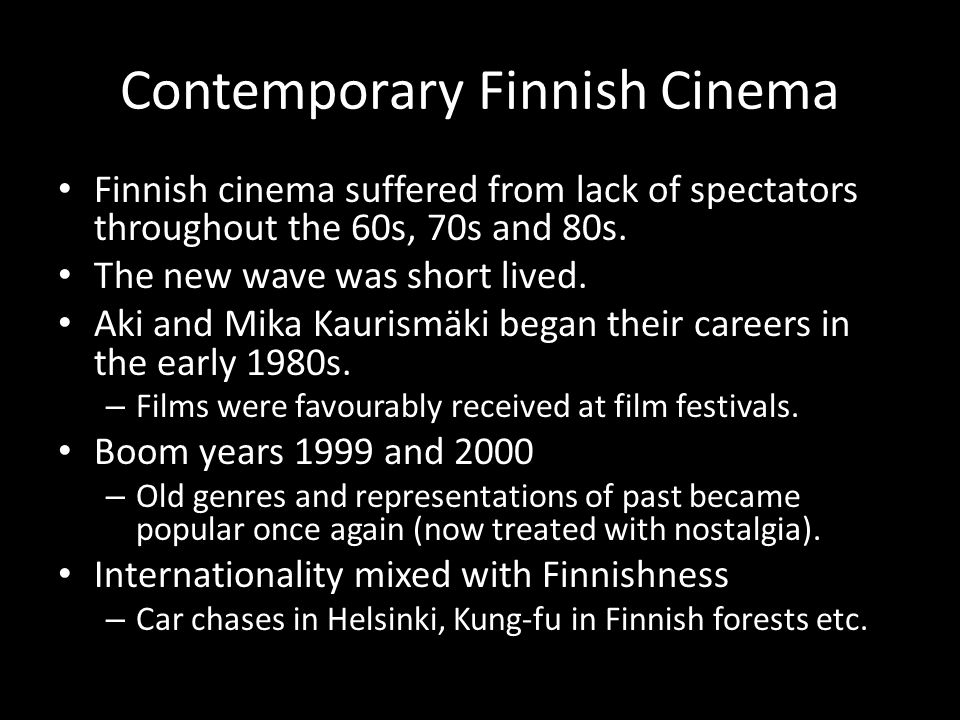 Contemporary Finnish Cinema