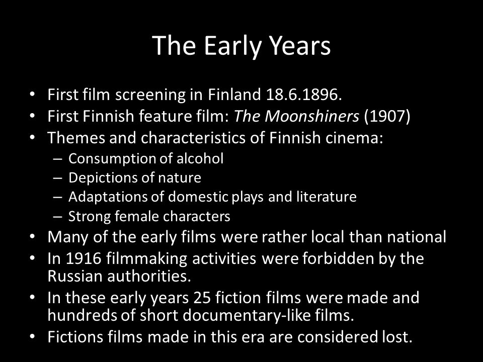 The Early Years First film screening in Finland 18.6.1896.