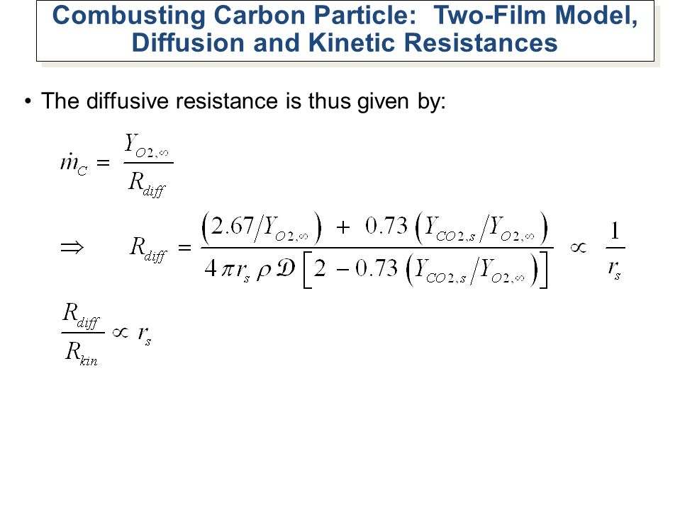 Combusting Carbon Particle: Two-Film Model, Diffusion and Kinetic Resistances