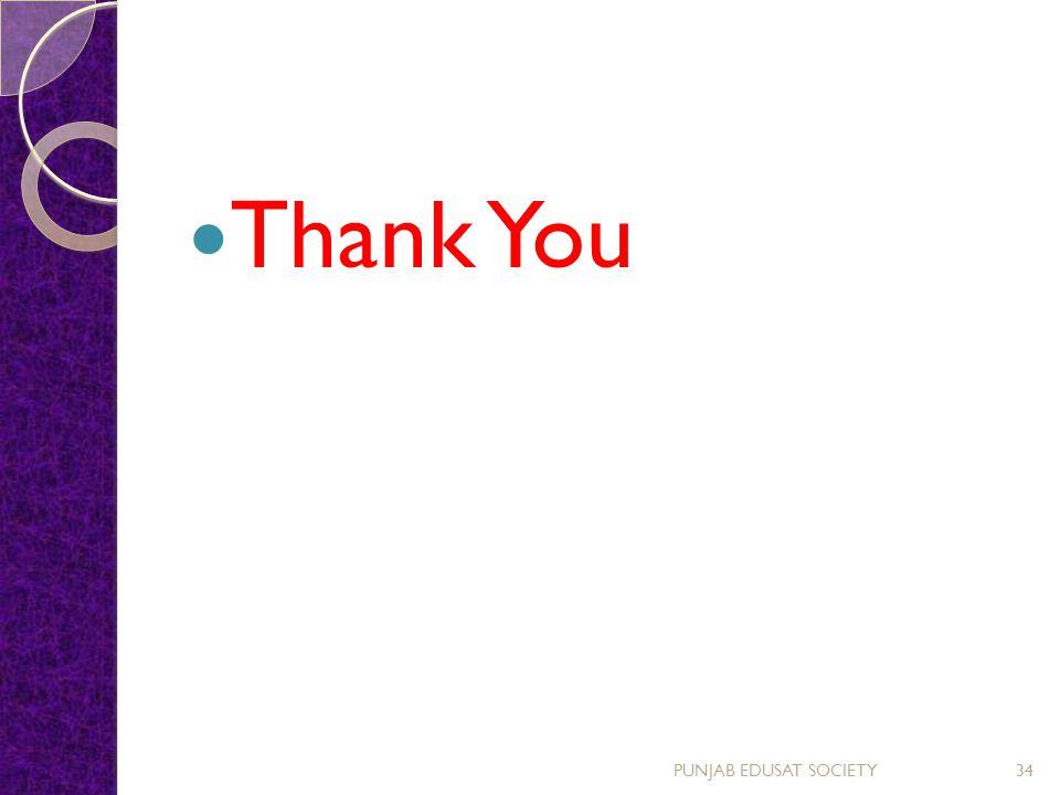 Thank You PUNJAB EDUSAT SOCIETY