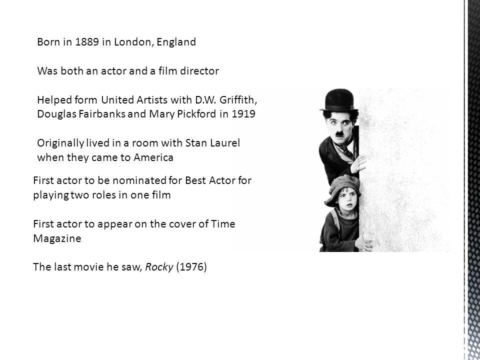 Born in 1889 in London, England