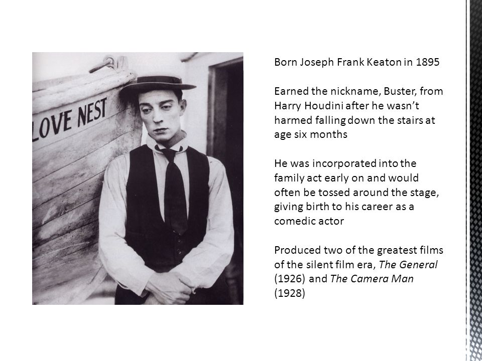 Born Joseph Frank Keaton in 1895