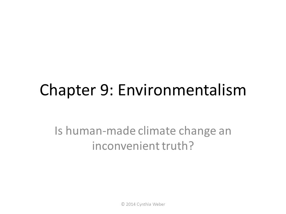 Chapter 9: Environmentalism
