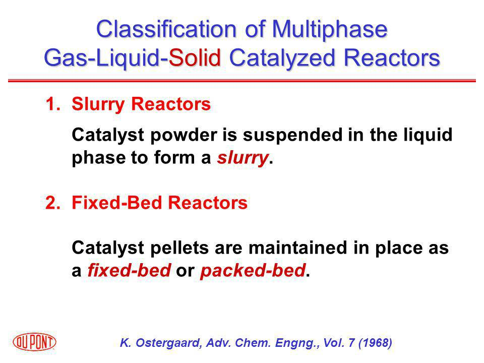 Classification of Multiphase Gas-Liquid-Solid Catalyzed Reactors