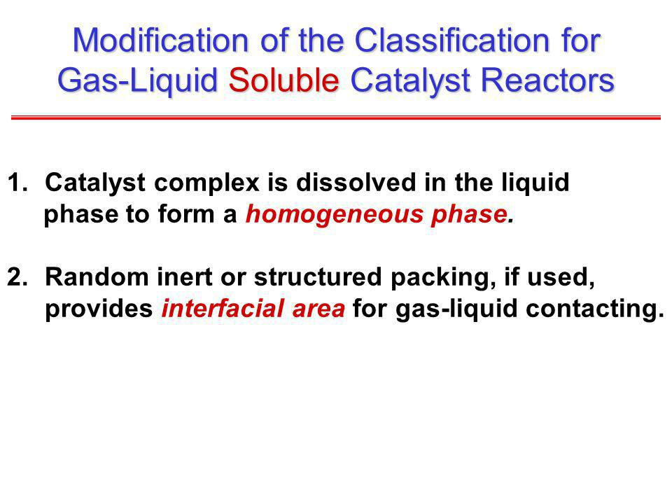 Modification of the Classification for Gas-Liquid Soluble Catalyst Reactors