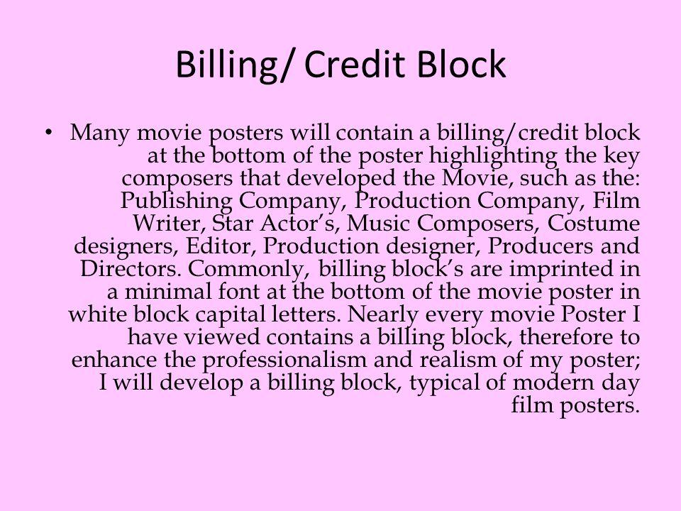 Billing/ Credit Block