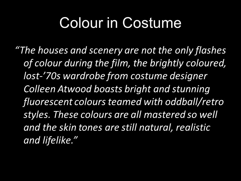 Colour in Costume