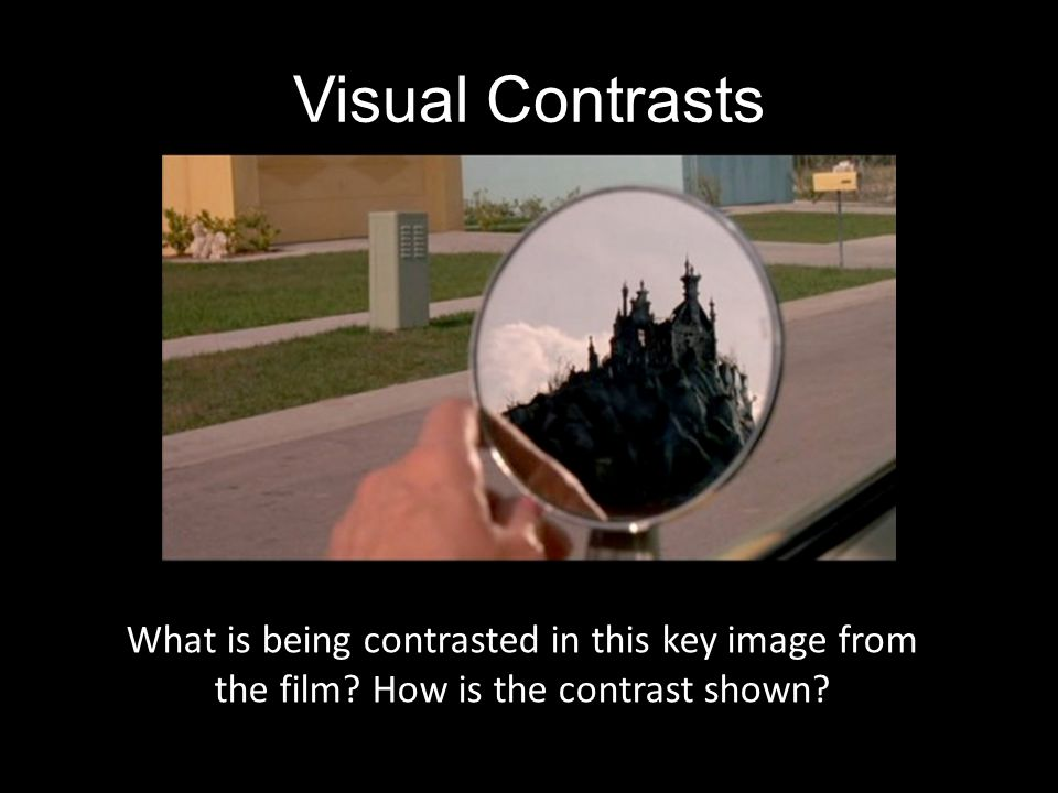 Visual Contrasts How does the contrast in images relate to the themes of the text Alienation Identity Good Vs. Evil