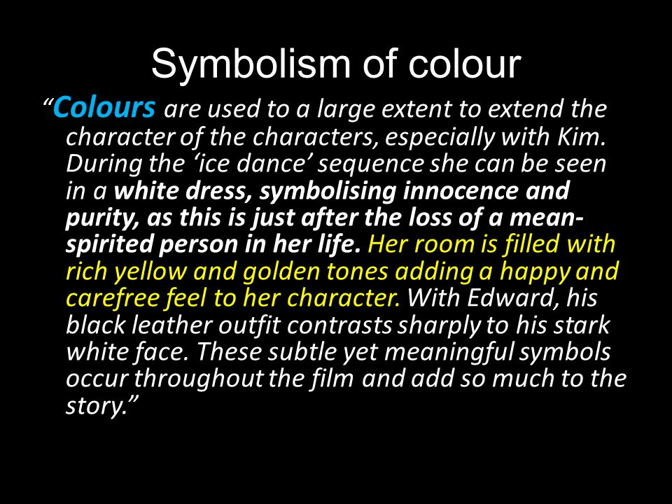 Symbolism of colour