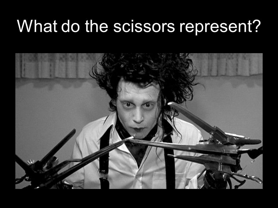What do the scissors represent