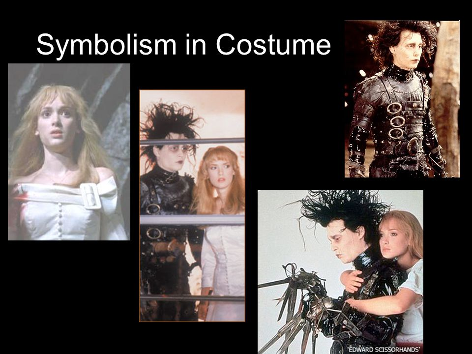 Symbolism in Costume Black vs White – good vs evil