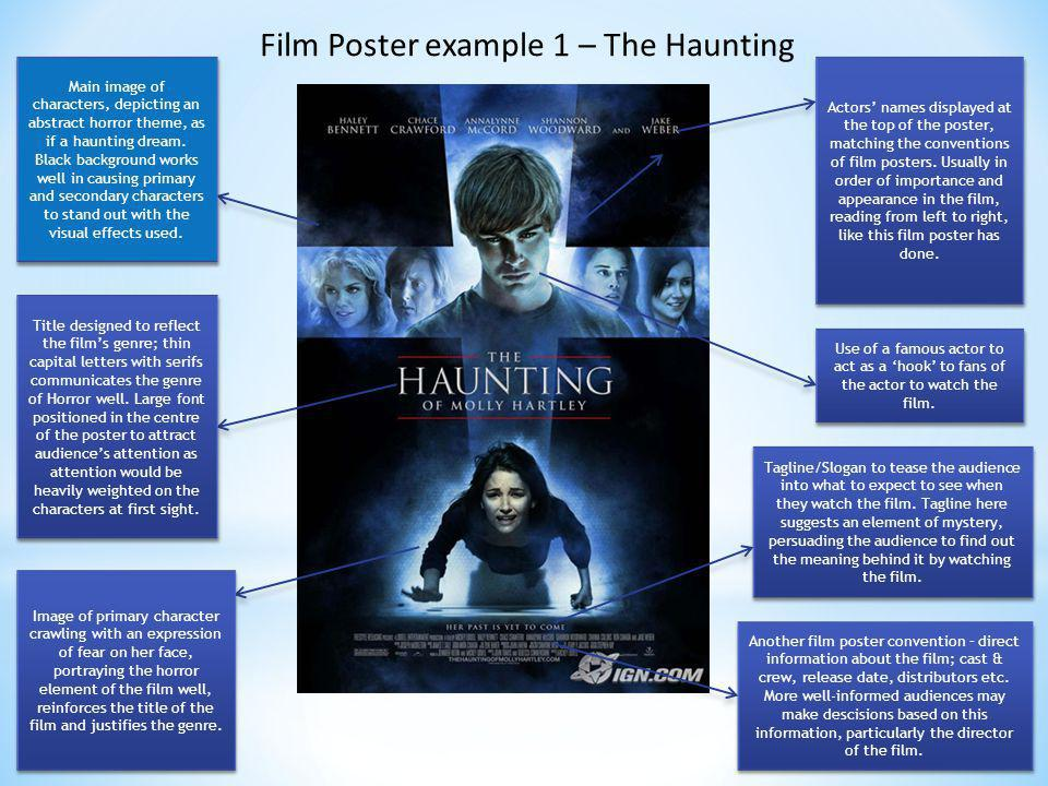 Film Poster example 1 – The Haunting
