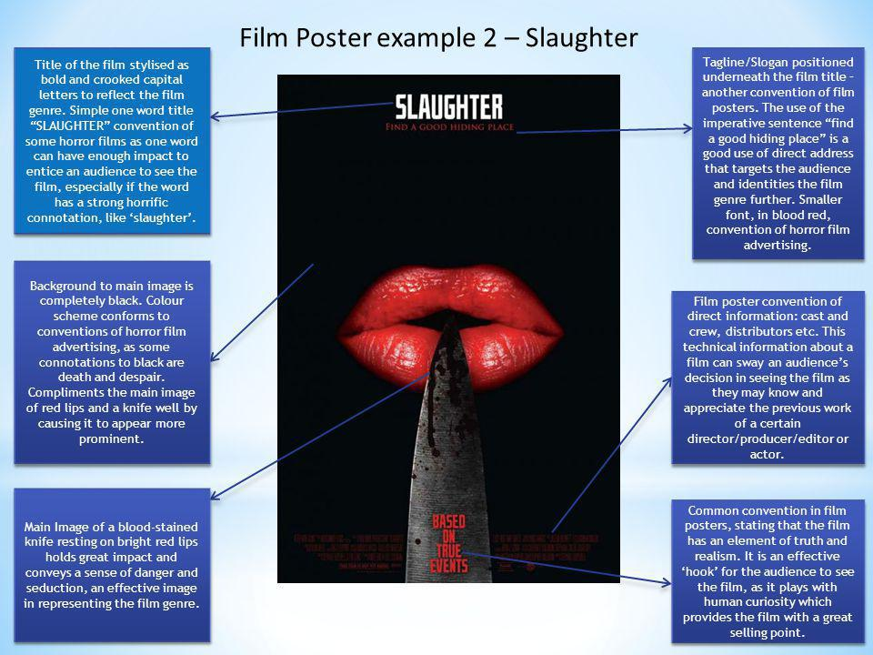 Film Poster example 2 – Slaughter