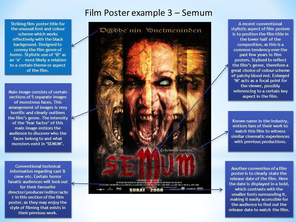 The genres in the realm of horror movie making