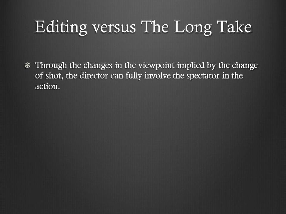 Editing versus The Long Take