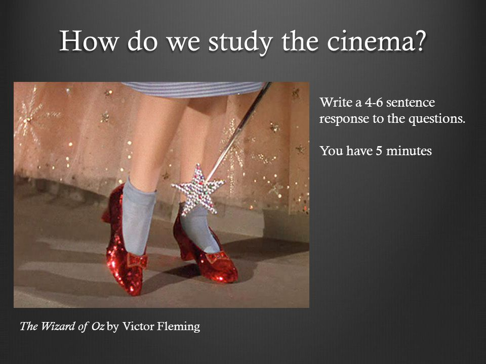How do we study the cinema
