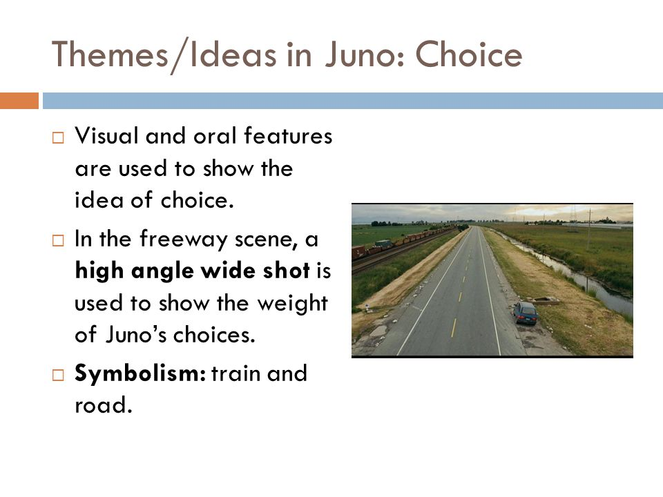 Themes/Ideas in Juno: Choice