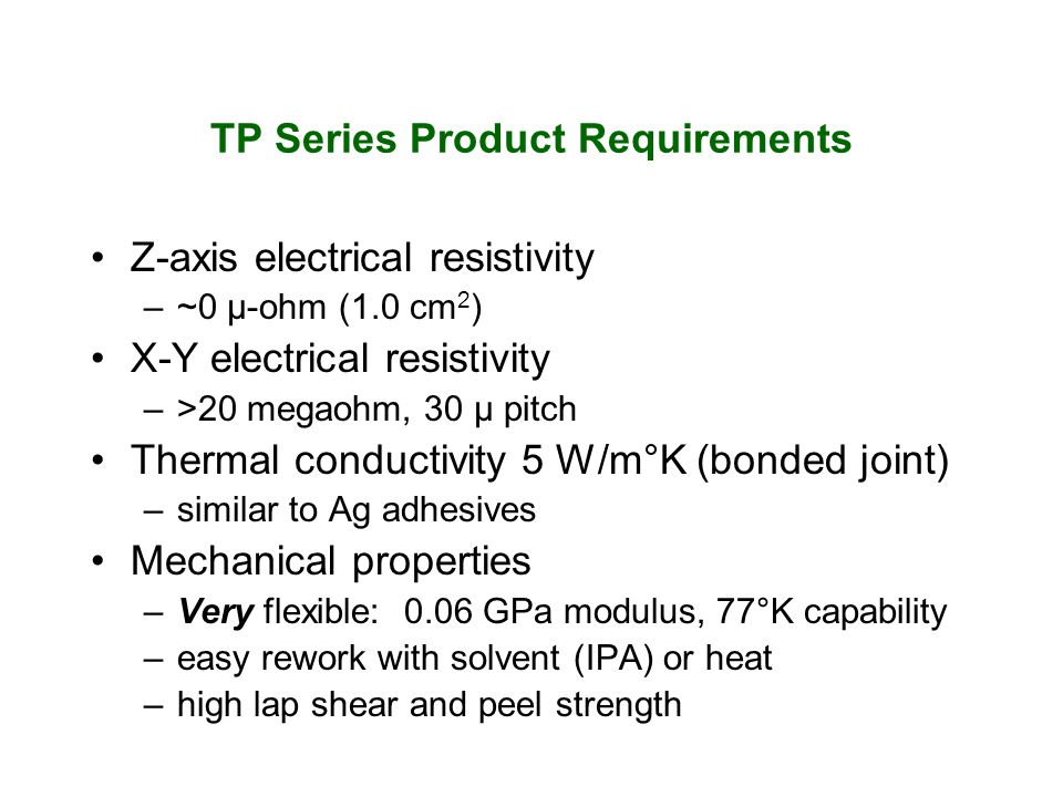 TP Series Product Requirements