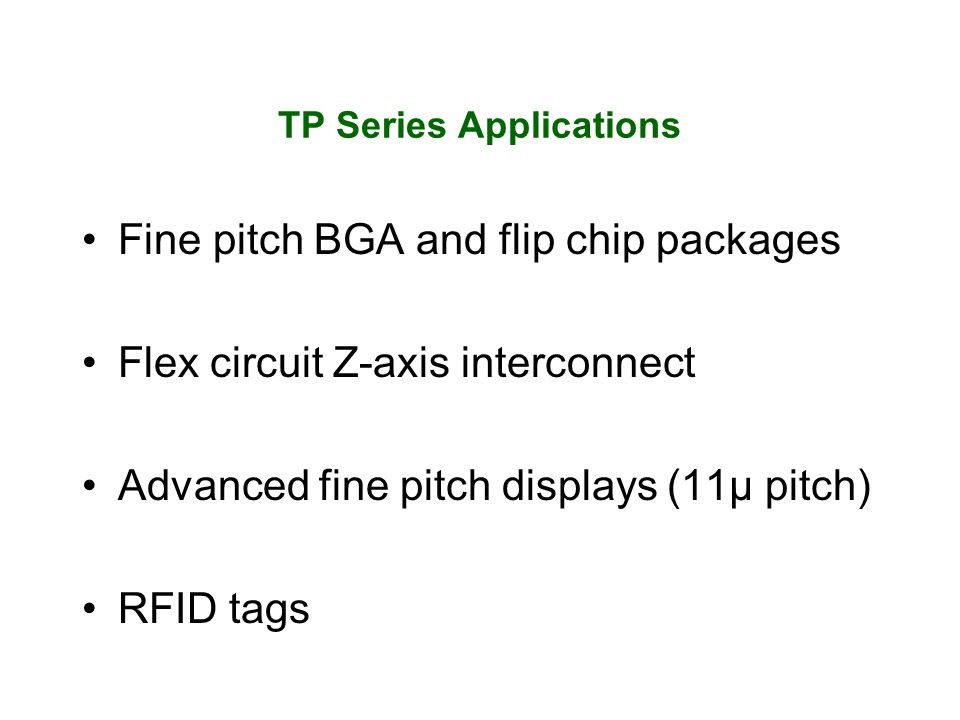 TP Series Applications