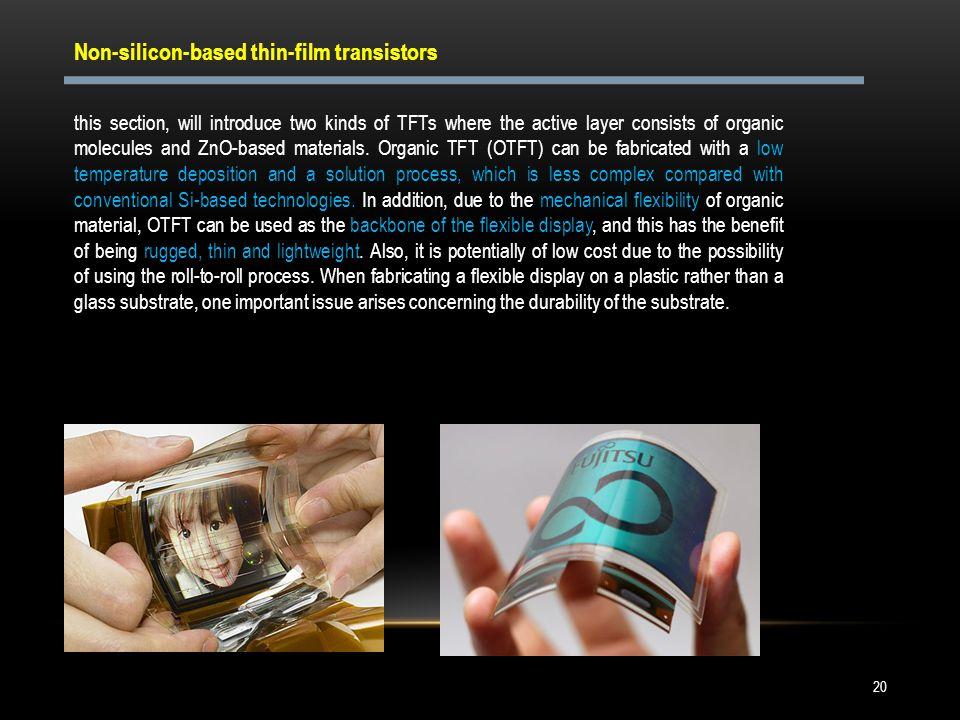 Non-silicon-based thin-film transistors