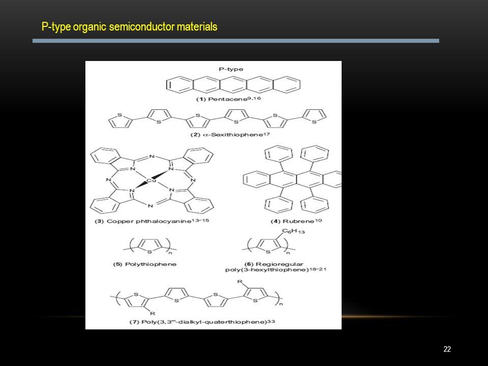 P-type organic semiconductor materials