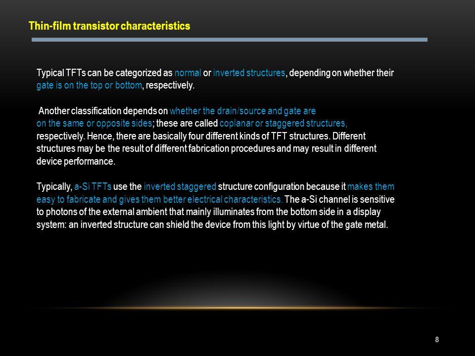 Thin-film transistor characteristics