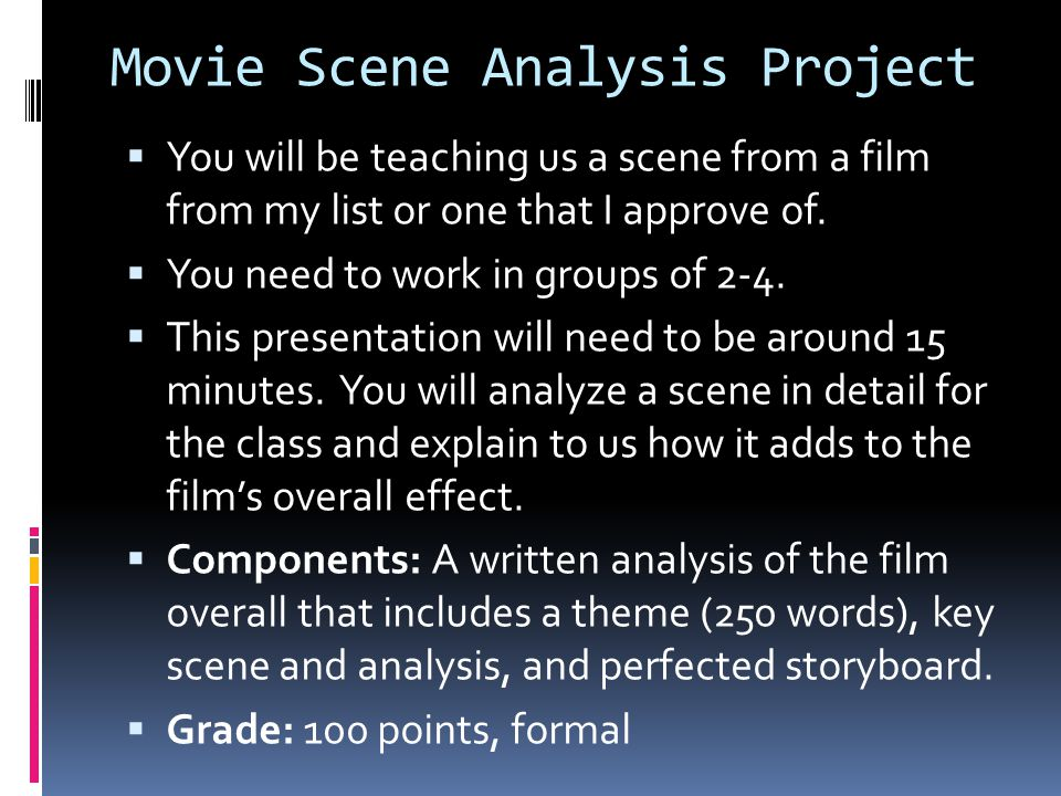 Movie Scene Analysis Project