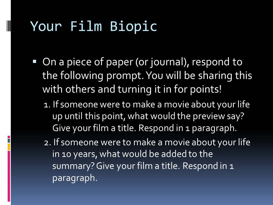 Your Film Biopic