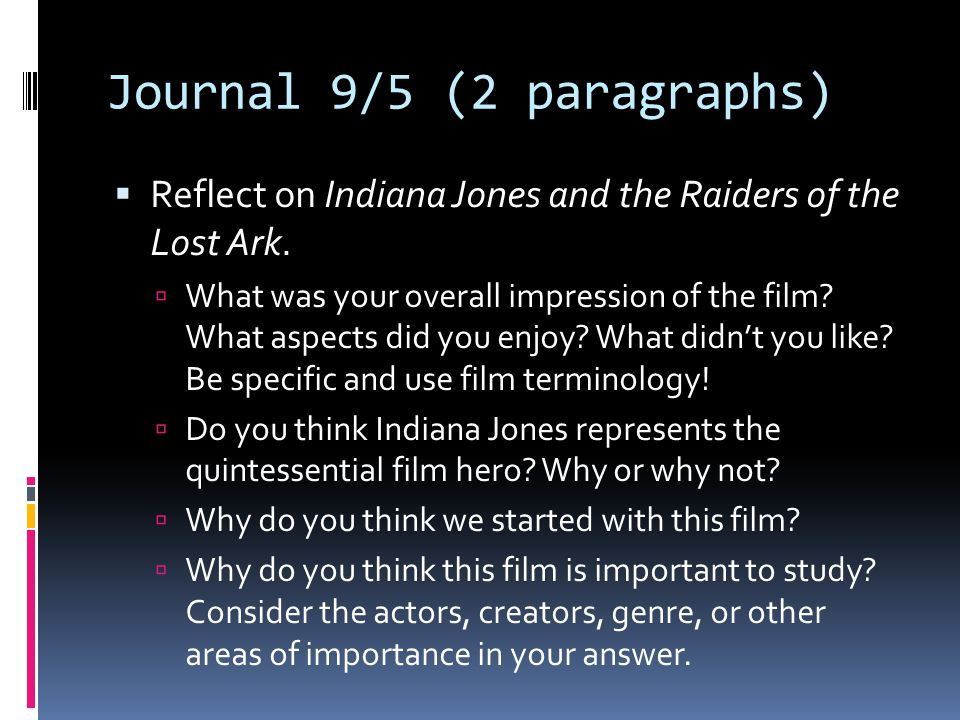 Journal 9/5 (2 paragraphs)